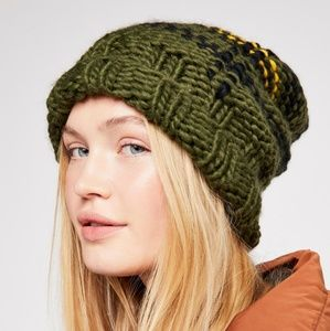 New NWT Free People Freestyle Plaid Beanie